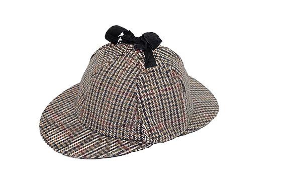 bb75067a41f GIZZY® Sherlock Holmes Style Tweed Deerstalker Hat. (58cm)  Amazon ...