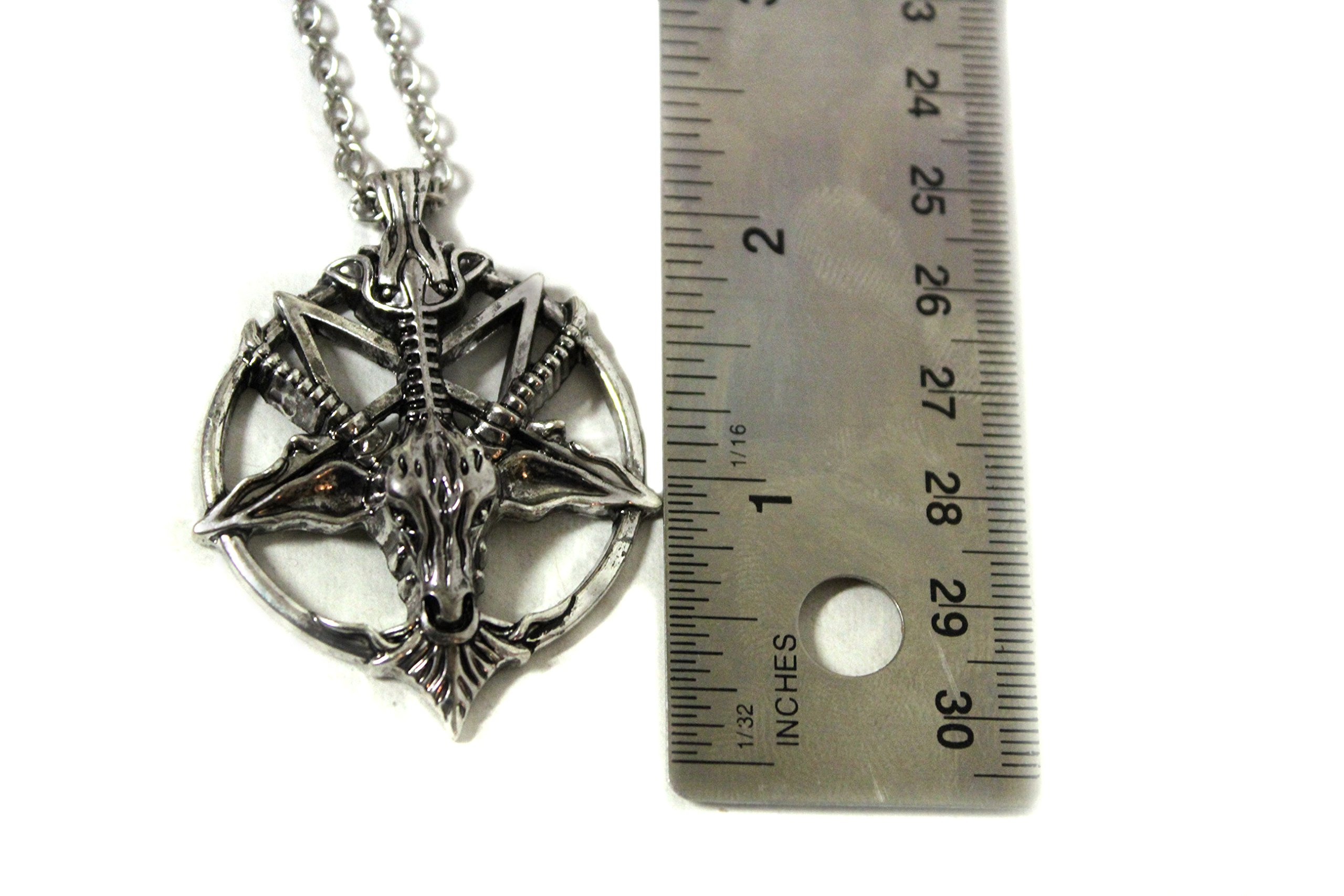 acrylic mendes occult necklace pendant pin satanic alloy zinc ritual baphomet goat material magick demonic of