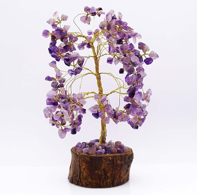 HARMONIZE Amethyst Stone Tree Reiki Gemstones Feng Shui Vastu Spiritual Bonsai Table D/écor