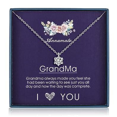 Amazon.com: Regalo de abuela de plata de ley 925, abuela ...