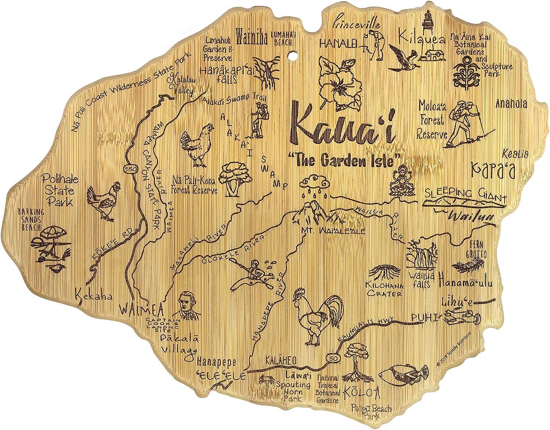 Totally Bamboo Kauai Island Destination Bamboo Serving and Cutting Board