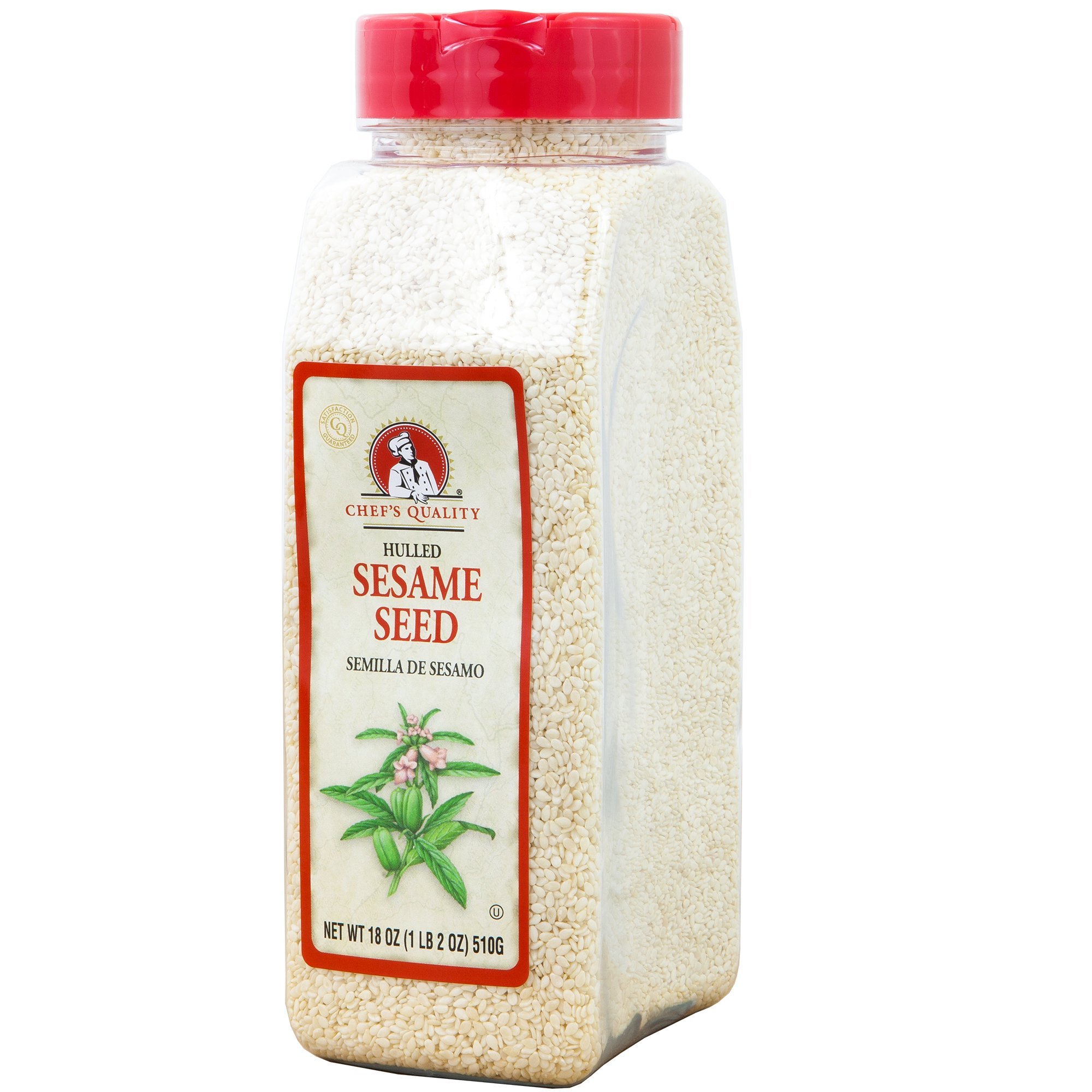 Hulled White Sesame Seed Delightfully Tasty Healthy & Crunchy 100% Natural 1LB - Chef Quality ...