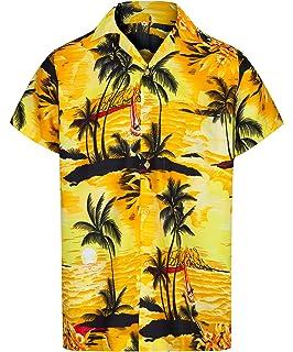 Camisa hawaiana de Luau del Hawaiian del muchacho T Shirt Sólo en el mapa y la persona que practica surf amarillas 12 Años: Amazon.es: Ropa y accesorios