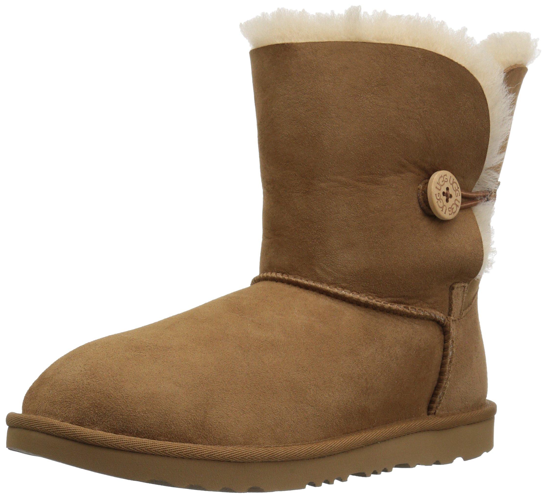 UGG Girls K Bailey Button II Fashion Boot, Chestnut, 5 M US Big Kid