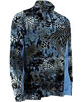 Huk Performance Fishing Men's Grey Kryptek Icon 1/4 Zip Top - H1200007yt2