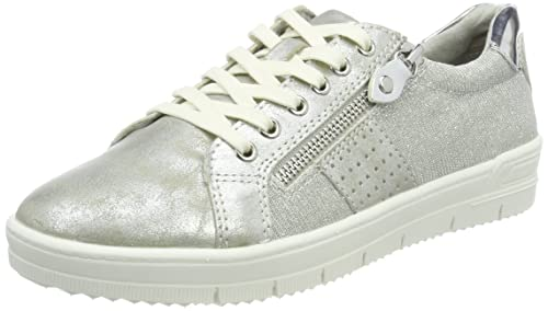 23605, Zapatillas para Mujer, Plateado (Silver Comb), 36 EU Tamaris