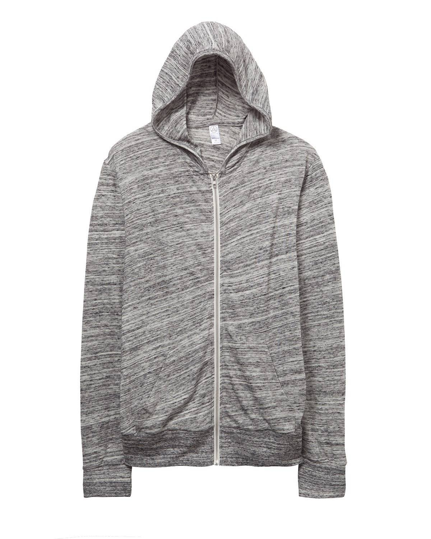 Alternative Mens Basic Space Dye Eco-Jersey Zip Hoodie XXX-Large Urban Grey