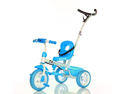 Toy House Rainbow Steer N Stroll Tricycle, Blue