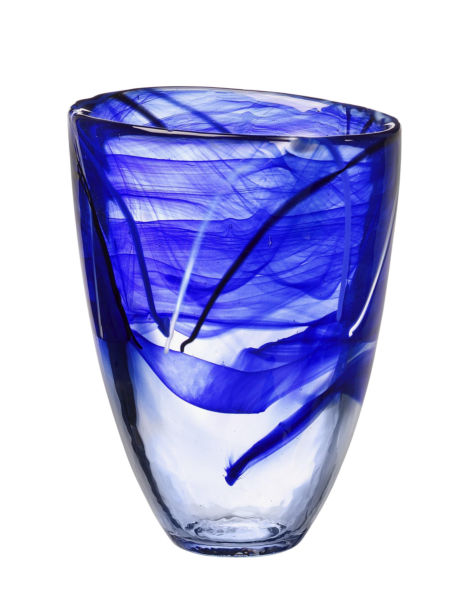 Kosta Boda Contrast Vase, Blue by Kosta Boda