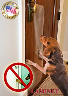 LAMINET The ORIGINAL Deluxe Pet Scratch Shields - Protect your furniture u0026 walls with our Deluxe & Amazon.com : The Door Shield - Pet Scratch Protector : Dog Door ...