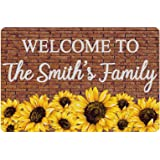 Personalized Family Welcome Sign Sunflower Brick Wall Creative Home Entry Door Garden Living Room Decoration Nameplate Shop A