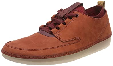 Clarks Nature Iv, Sneakers Basses Homme, Rouge (Rust Combi), 41 EU