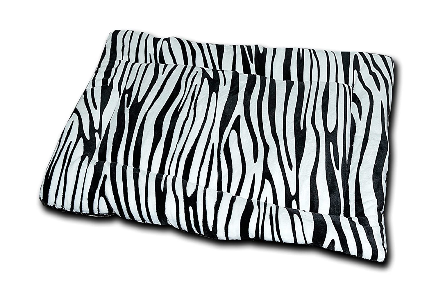 Black Zebra HappyCare Textiles HCT MAT-001 Printed Super Touch Micro Mink Dog and Pet Mat, Black Zebra
