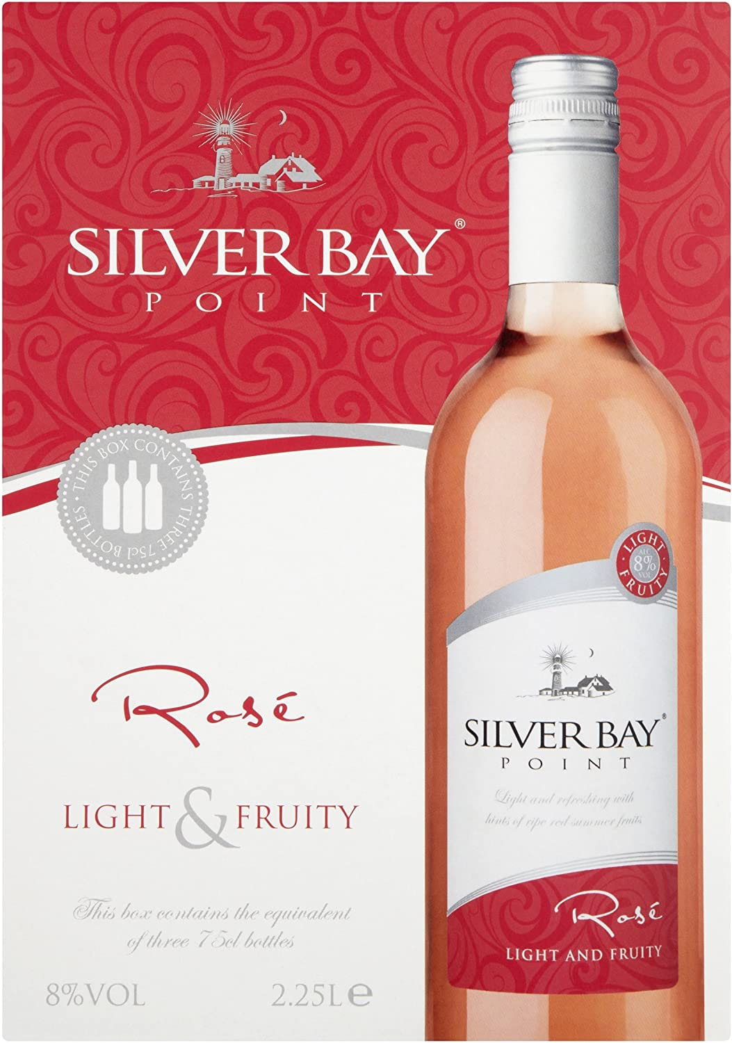 Silver Bay Point Bag In Box Rose Wine 2 25 L Case Of 4 Amazon Co Uk Grocery