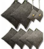 DTXDTech Bamboo Charcoal Air Purifying Bags 8 Pack (2X500 G) (4X220 G) (2X100 G) Activated Bamboo Charcoal Natural for…