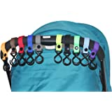 HIG Stroller Hook - 10 Pack of Multi Purpose Hooks - Hanger for Baby Diaper Bags, Groceries, Clothing, Purse