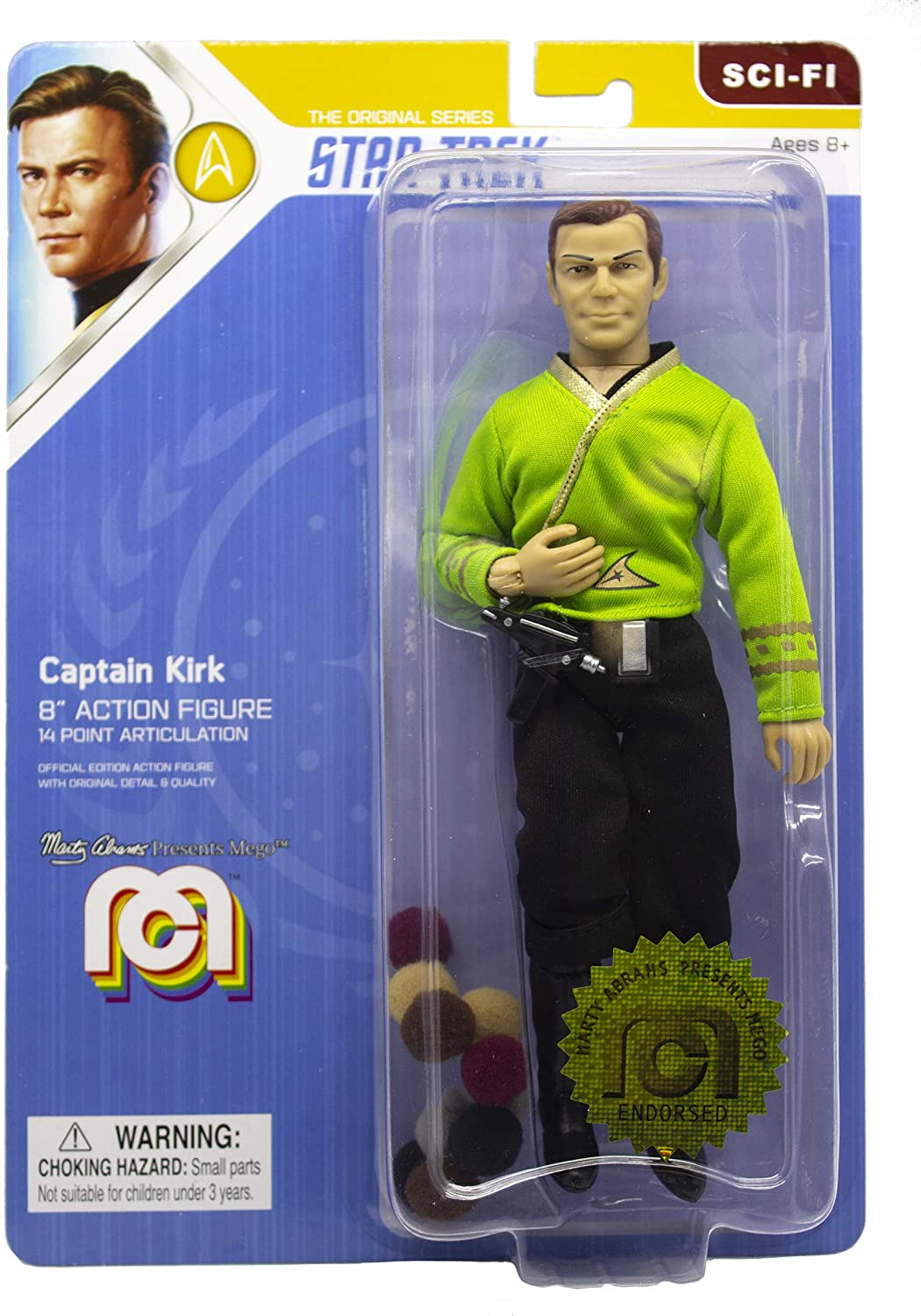 "Mego Action Figures, 8"" Star Trek - Capt. Kirk in Green Shirt with Tribbles from The The Original Series Episode The Trouble with Tribbles(Limited Edition Collector's Item)"