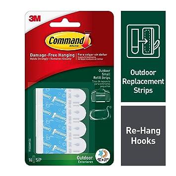 Amazoncom Command Outdoor Foam Hanging Strip Refills Small 16