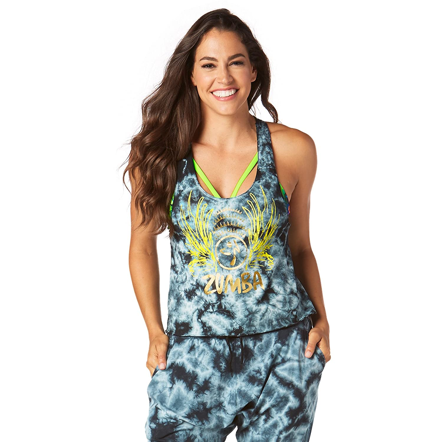 Zumba Fitness Forever Wild Loose Cropped Tank, Top Donna Z1T01311