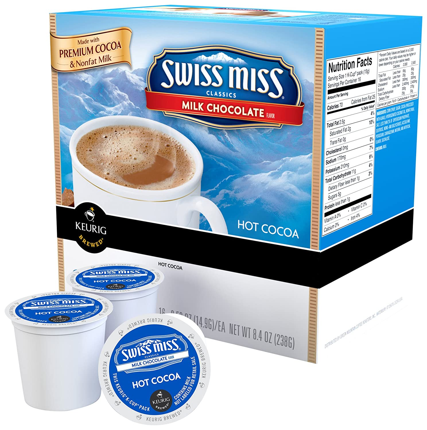 Amazon.com : Swiss Miss Milk Chocolate K-Cups for Keurig Brewers ...