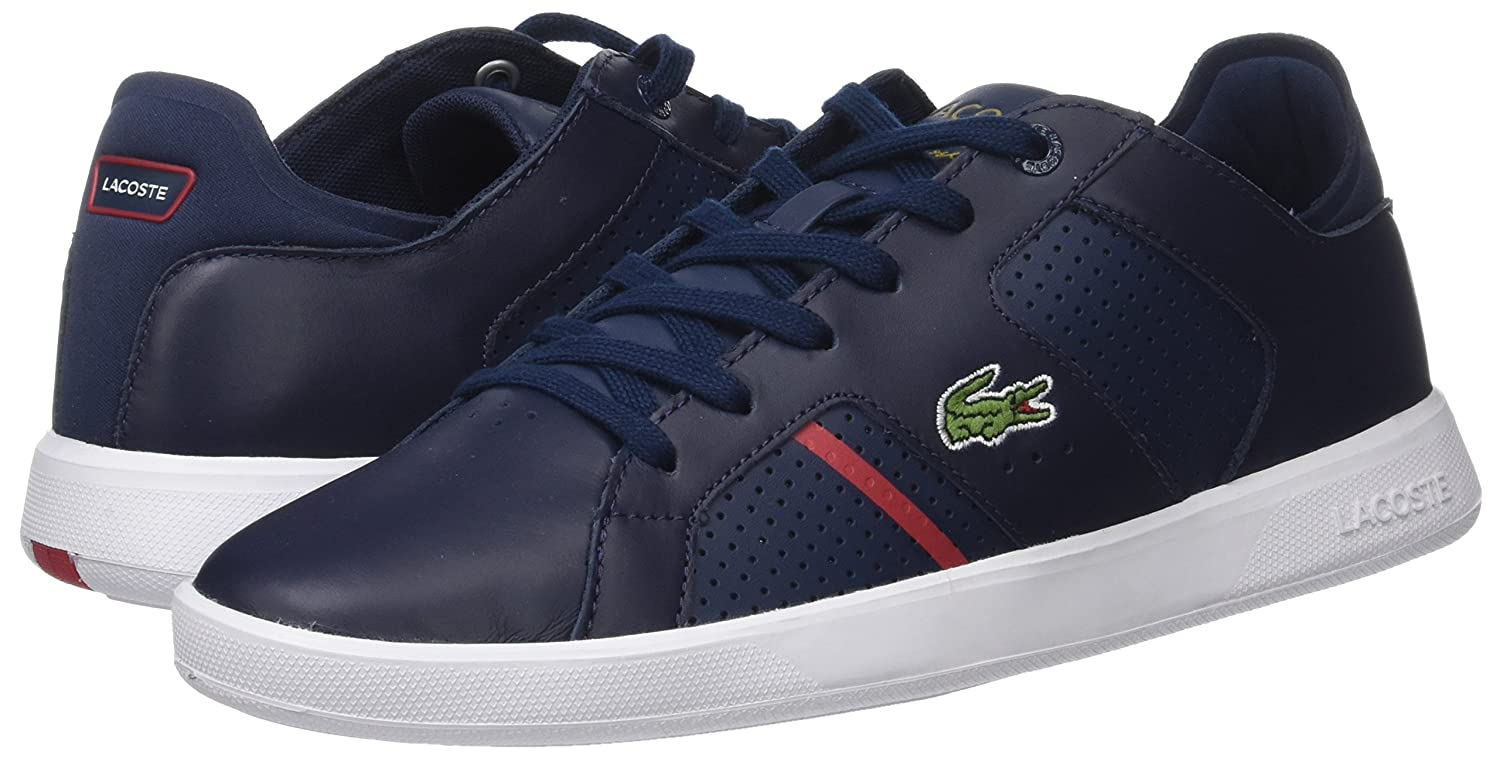 Amazon.com   Lacoste Mens Navy/Red Novas 118 1 Sneakers-UK 11   Fashion Sneakers