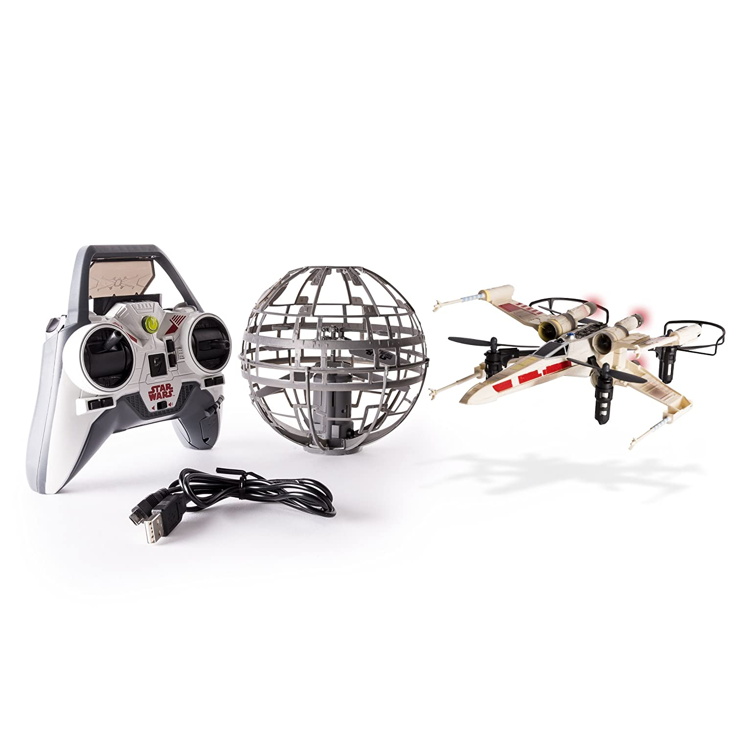 Star Wars Air Hogs X-Wing vs. Death Star Rebel Assault - RC Drones ...