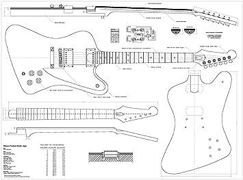 Juego de 3 Gibson guitarra eléctrica - Explorer planos, Firebird Studio, de caza-V: Amazon.es: Instrumentos musicales