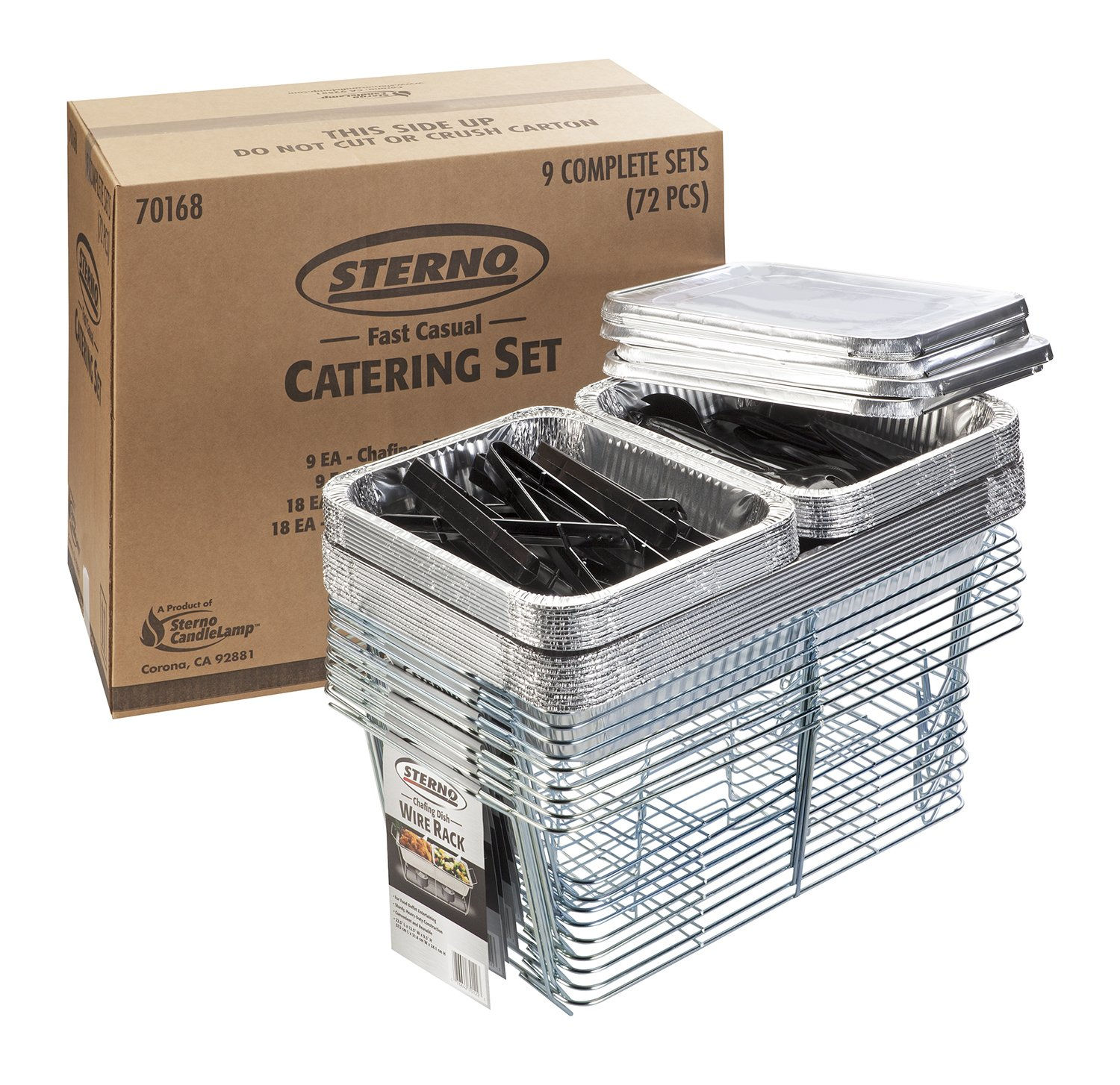 STERNO 72 PIECE CATERING SET