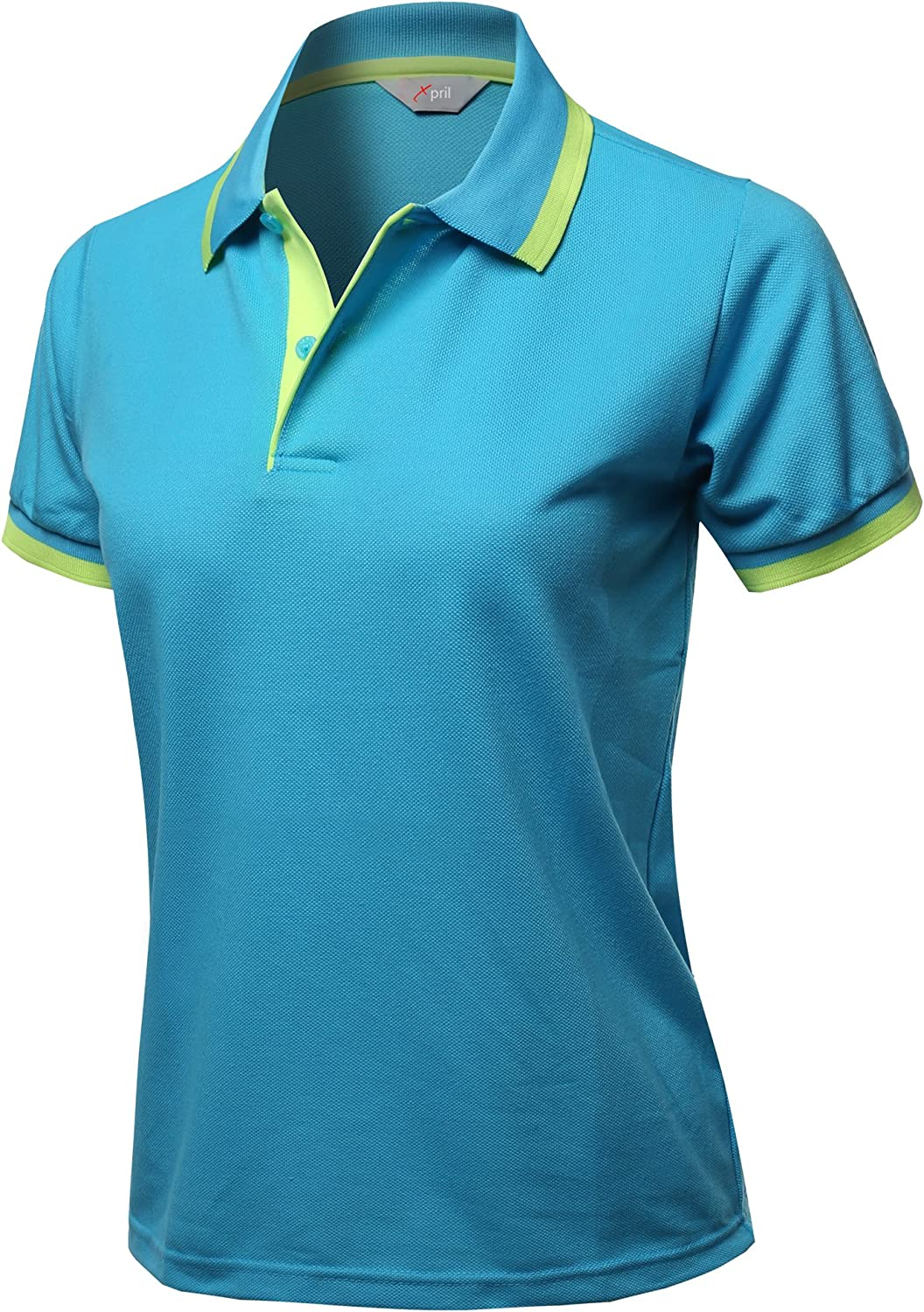 Women's Solid Cool Dri-Fit Active Leisure Short Sleeve Polo T-Shirt Tee