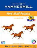 Hammermill Printing Paper, Fore MP, 24lb, 8.5 x 11, Letter, 500 Sheets/1 Ream (103283R) Made In The USA