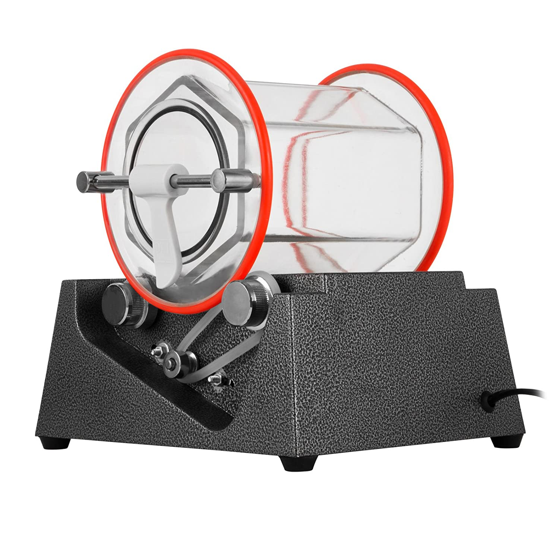 Chrisun Bijoux Polisseur Tumbler Rotary Tumbler Capacit/é 3kg Mini Machine De Culbuteur Rotatif Avec Minuterie Bijoux Polisseur Finisher
