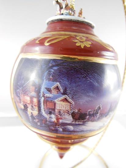 "Terry Redlin's Holiday Memories Heirloom Porcelain Christmas Ornament  ""Winter Wonderland"" ... - Amazon.com: Terry Redlin's Holiday Memories Heirloom Porcelain"
