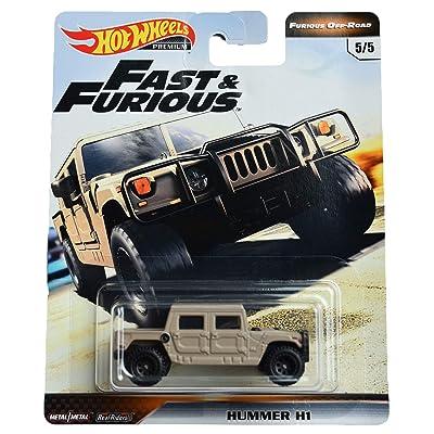 Hot Wheels Furious Off Road Hummer H1 5/5, tan: Toys & Games