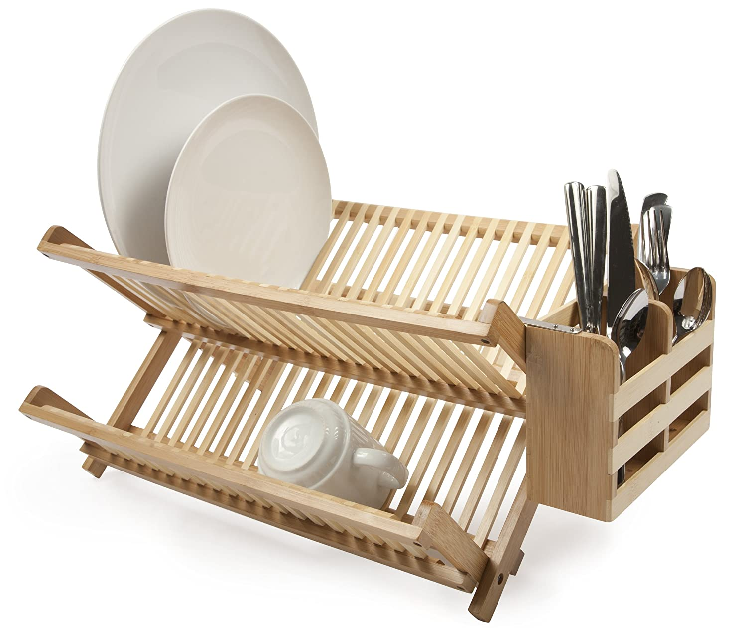 Amazon.com Core Bamboo Dish Rack with Utensil Holder Natural Utensil Organizers Kitchen u0026 Dining  sc 1 st  Amazon.com & Amazon.com: Core Bamboo Dish Rack with Utensil Holder Natural ...