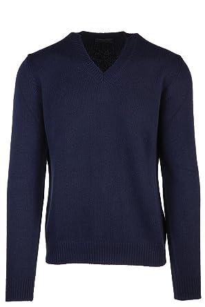 meilleur site web 9b5ac fa60d Prada Pull à col en V Homme blu: Amazon.fr: Vêtements et ...