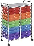 ECR4Kids 20 Drawer Mobile Organizer, Assorted Colors