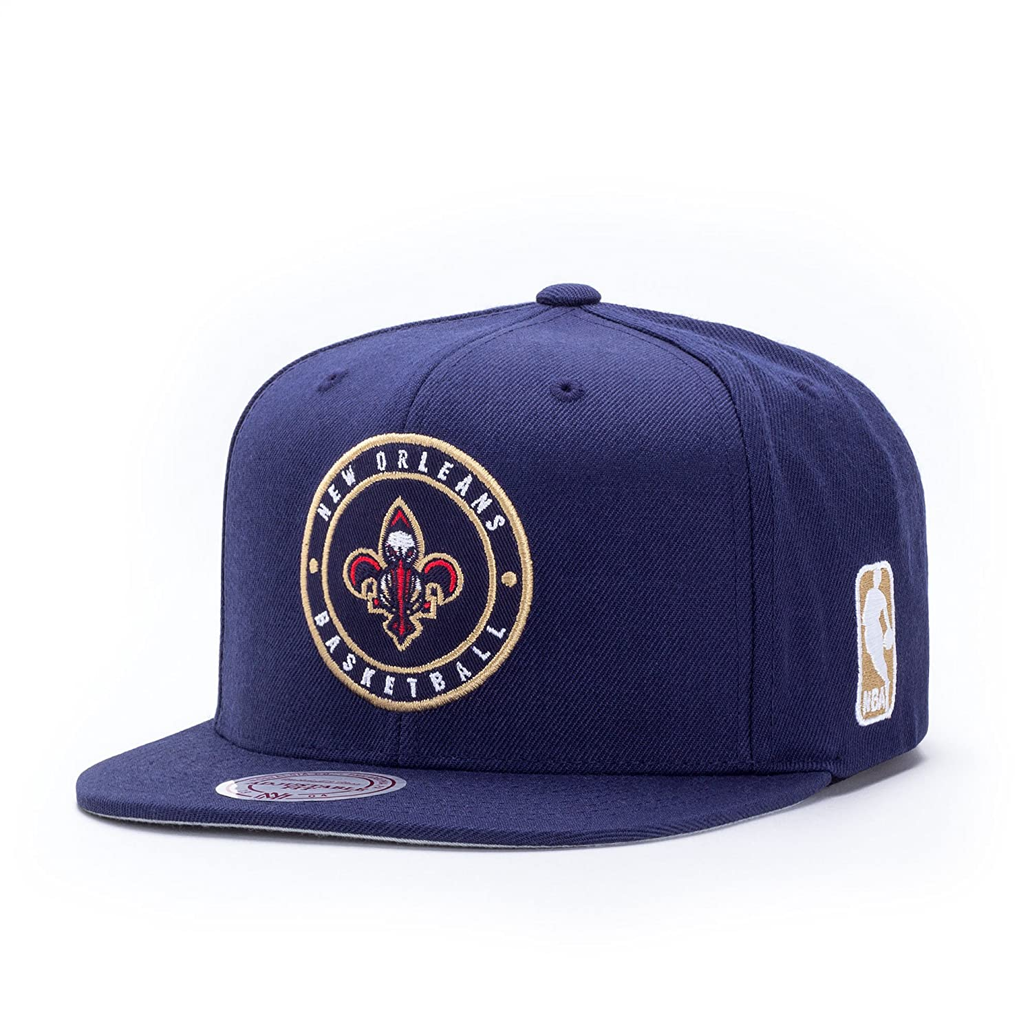 9cd89551453 Patch Pelicans Cap Mitchell   Ness cap base cap (One Size - navy)   Amazon.co.uk  Clothing