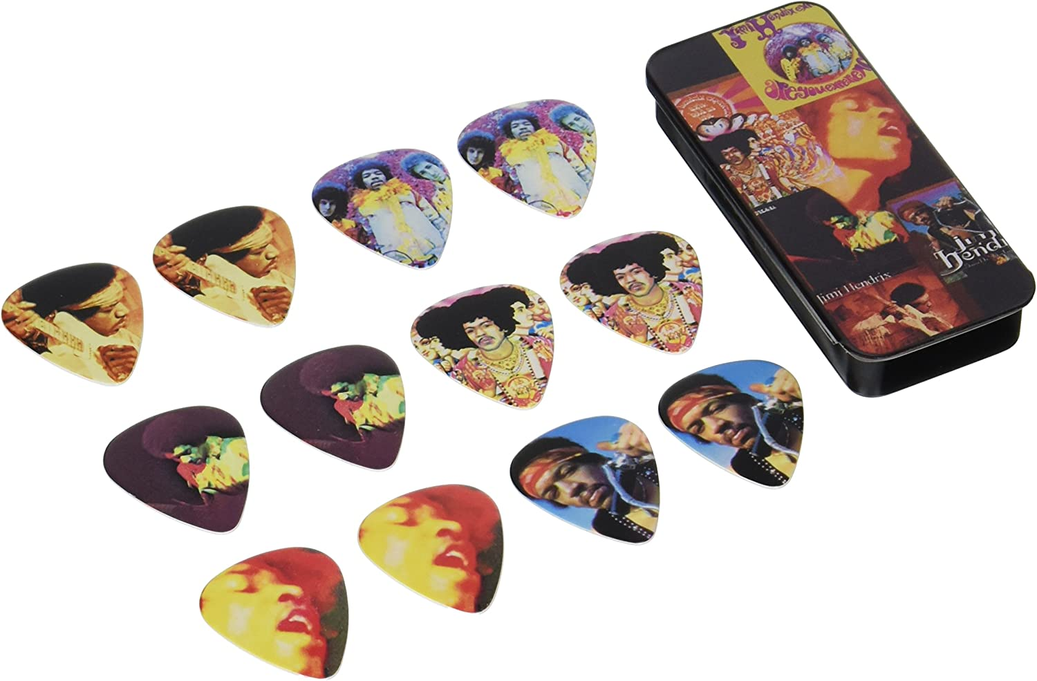 New stash your picks or small items PICKS NOT INCLUDED Jimi Hendrix EMPTY TIN