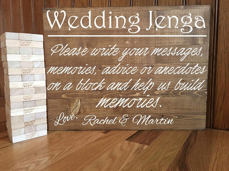 Celycasy Jenga Wedding Guest Book Jenga Wedding Sign Rustic Wedding Wedding Decor Wedding Guestbook Alternative Wedding Guestbook Jenga Guestbook Amazon Ca Home Kitchen