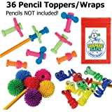 Super Secret Surprise Sack Triple Fidget Pencil Topper Pack (36 pc) with 1