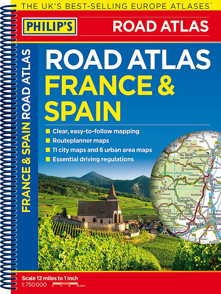 Philips France and Spain Road Atlas: Spiral Philips Road Atlas ...