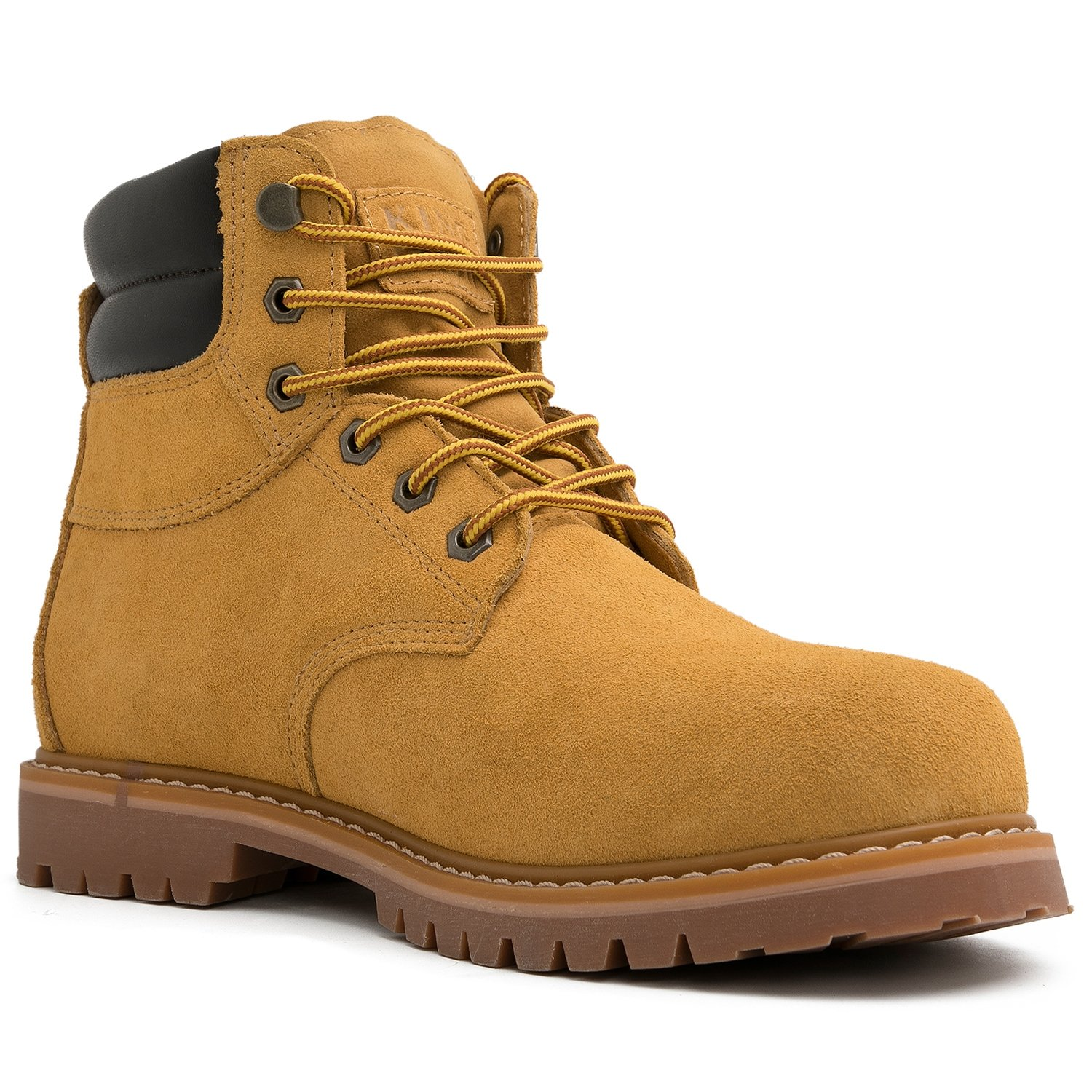 KINGSHOW Mens 1366 Water Resistant Premium Work Boots KS-1801