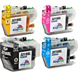 Kingway Replacement for Brother LC3219XL Ink Cartridges Compatible with Brother MFC-J5330DW MFC-J5335DW MFC-J5730DW MFC-J5930DW MFC-J6530DW MFC-J6930DW MFC-J6935DW (Black/Cyan/Magenta/Yellow) 4 Pack