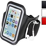 Brassard sport - Noir - pour iPhone 4/4s et 5/5s - Dimensions : 47x14x0,5 mm (LxlxH) - DIVERSES COULEURS AU CHOIX
