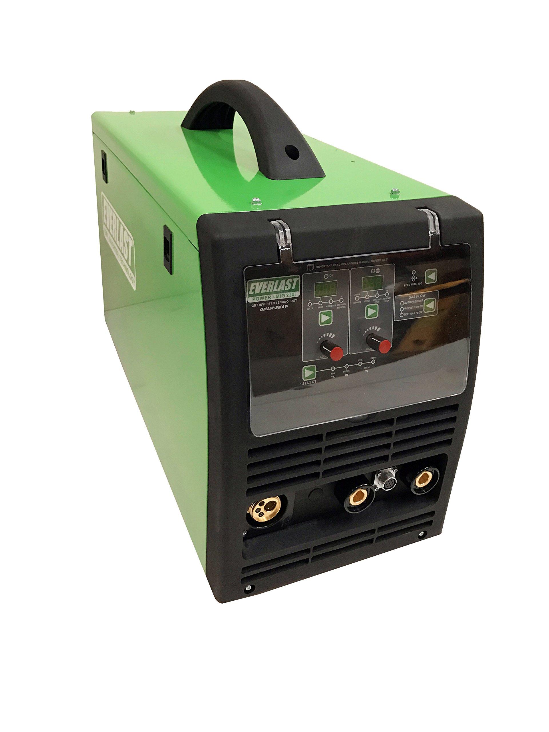 2017 Everlast PowerMIG 230i 230amp MIG STICK Welder 110/220 Dual Voltage