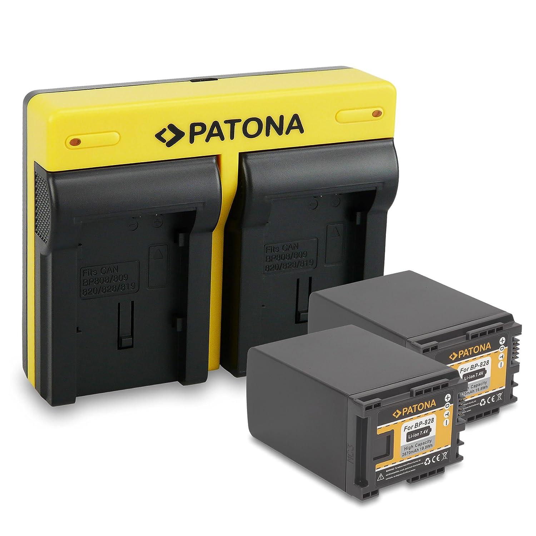 Patona dual doble cargador para Canon bp-807 bp-808 bp-809 bp-819 bp-820