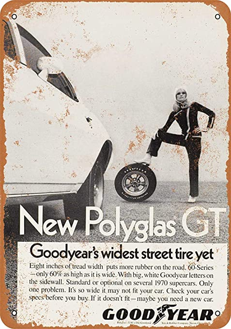 HiSign Polyglas GT Tires Retro Cartel de Chapa Coffee Póster ...
