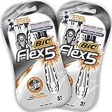 BIC Flex5 Rasoi da Uomo Monouso - Confezione da 2 Pacchi da 3