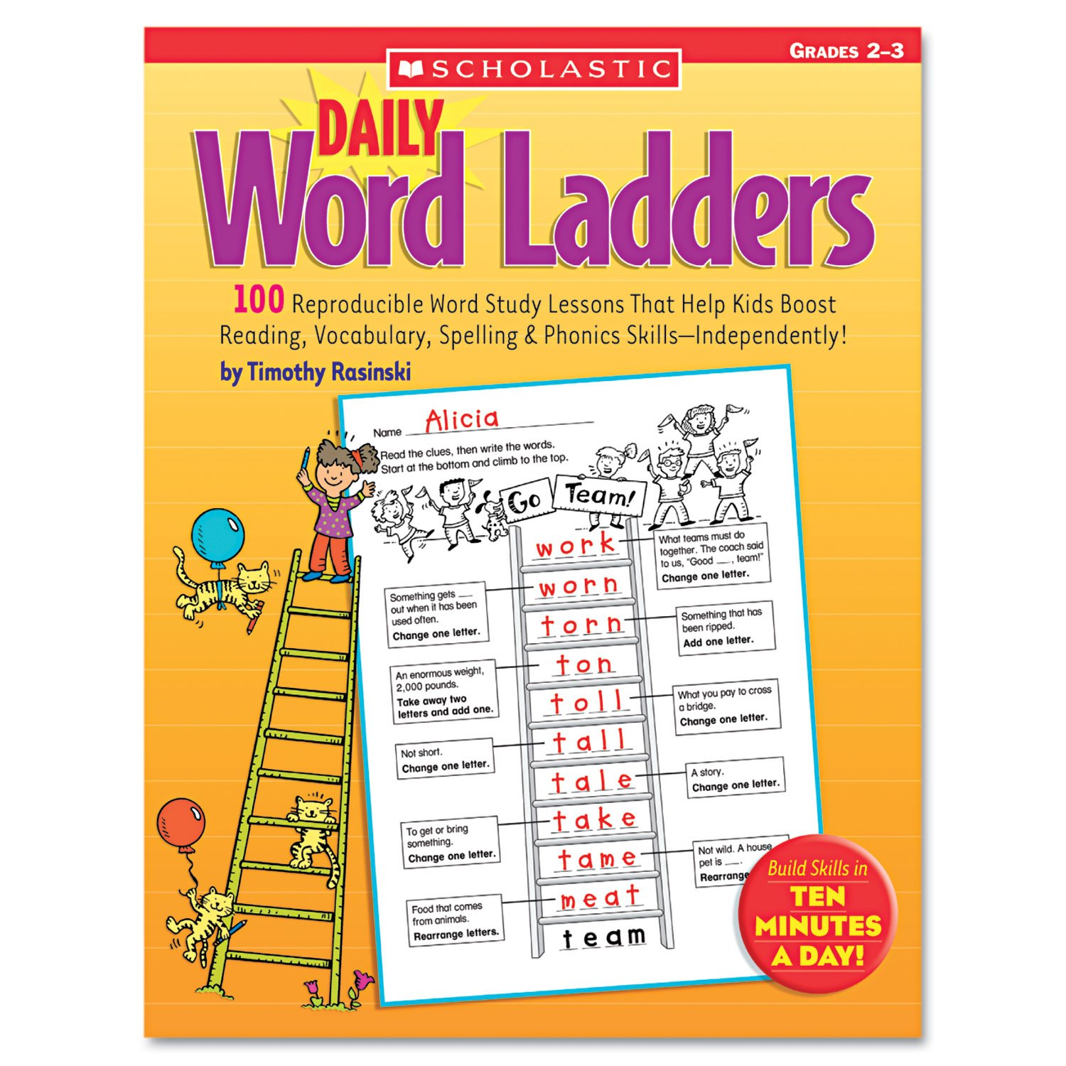 Worksheets Word Ladders Worksheets scholastic daily word ladders grades 2 3 0439513839 amazon co uk office products