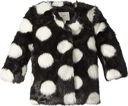 6d5eb9111279 Kate Spade New York Kids Baby Girl's Polka Dot Faux Fur Coat (Infant) Black